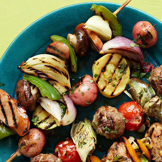 Chimichurri Vegetable Skewer