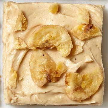 Peanut Butter-Banana Blondies
