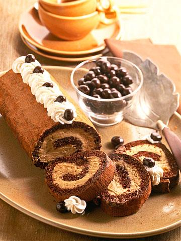 Chocolate-Coffee Cream Roll