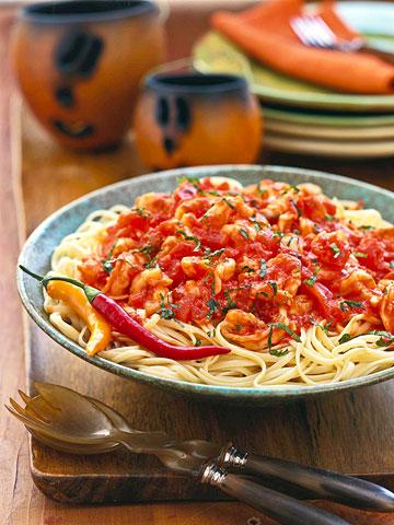 Linguine and Shrimp Fra Diavolo