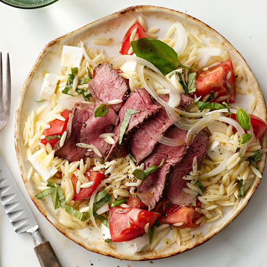 Beef and Beefsteak Tomato Salad