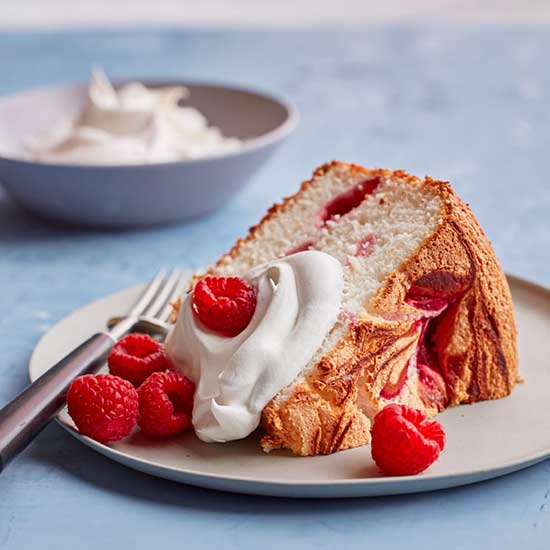 Raspberry Angel Food Cake