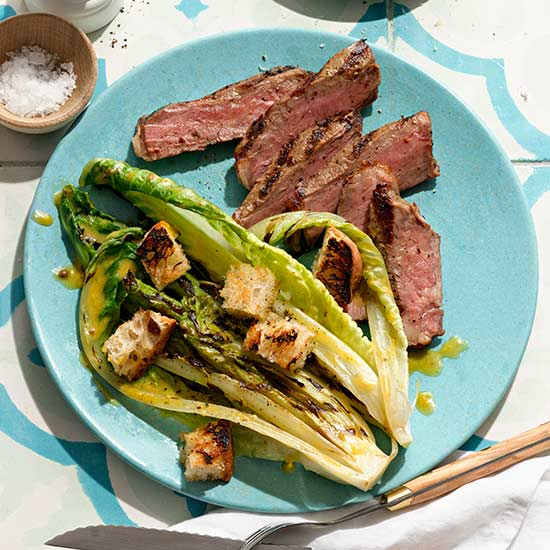 Grilled Romaine Steakhouse Caesar