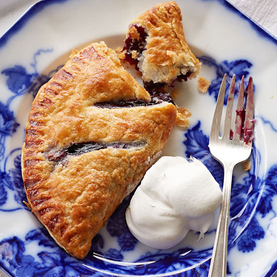 Blueberry Hand Pies with Whipped Cream
