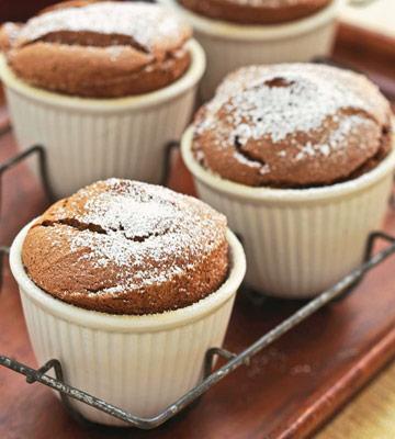 Double-Chocolate Souffles
