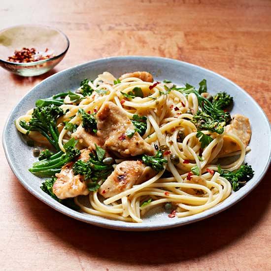 Chicken and Broccolini Aglio e Olio