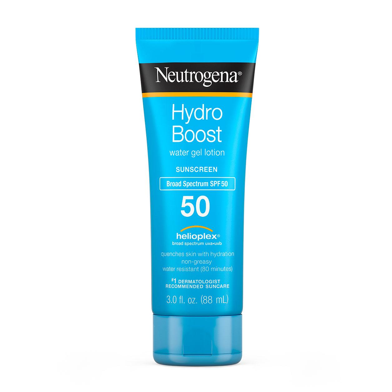 Neutrogena Hydro Boost Water Gel facial moisturizer with sunscreen
