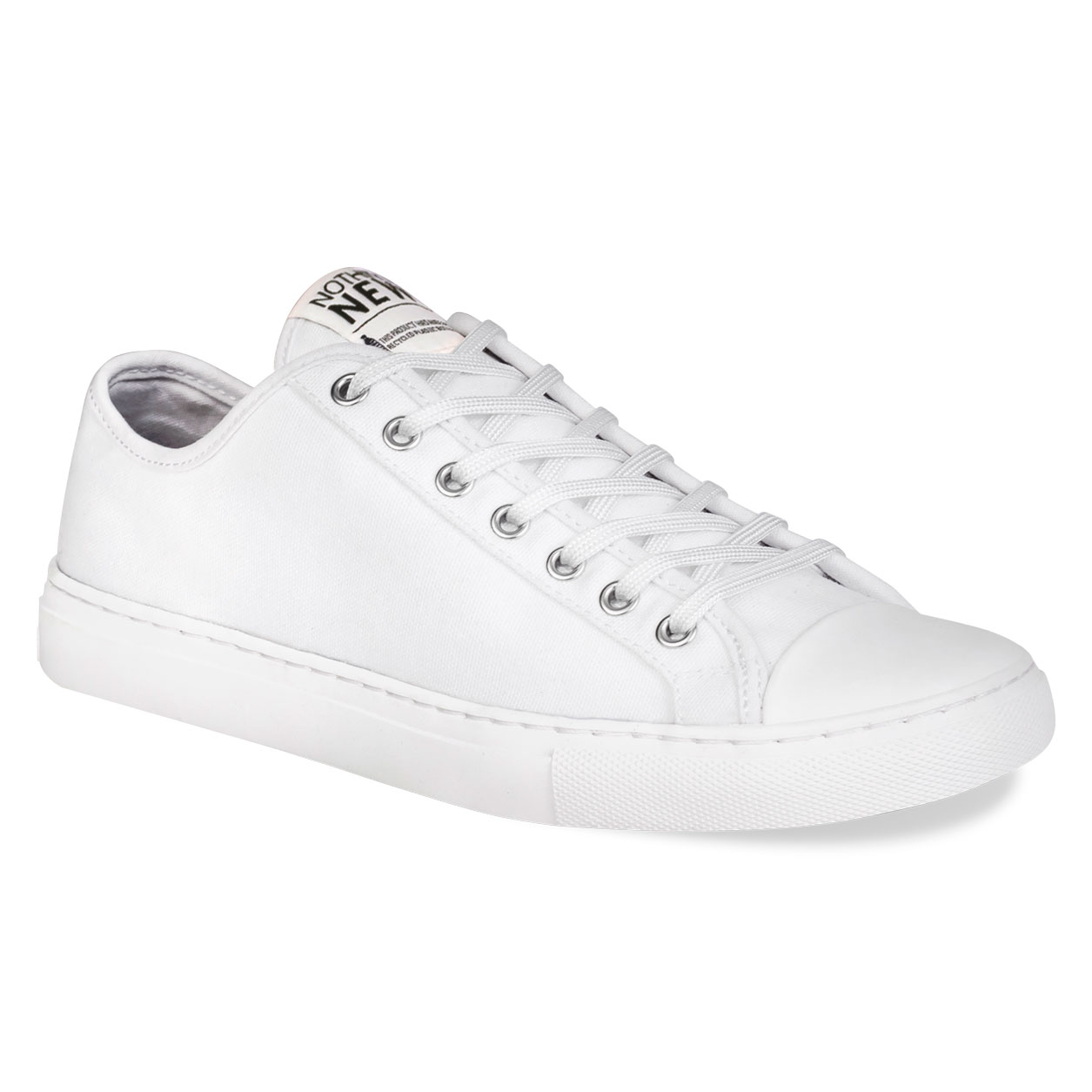 Nothing new white lace-up sneakers