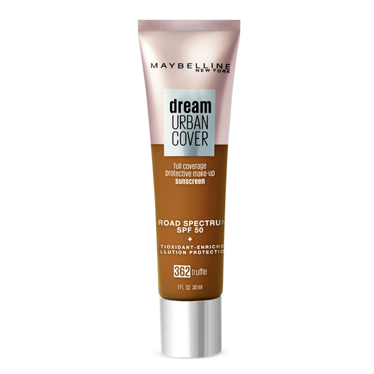 Lightweight and full-coverage foundation with SPF 50