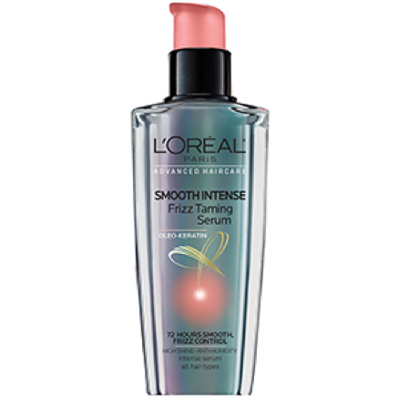 L'Oréal Paris Smooth Intense Frizz Taming Serum creates a barrier to block your hair from humidity and tame the frizz.Lorealparisusa.com, $7.