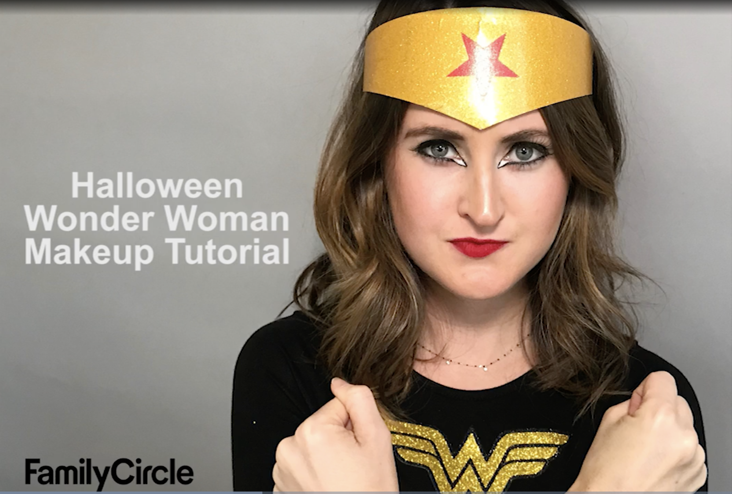Wonder Woman Halloween Makeup Tutorial