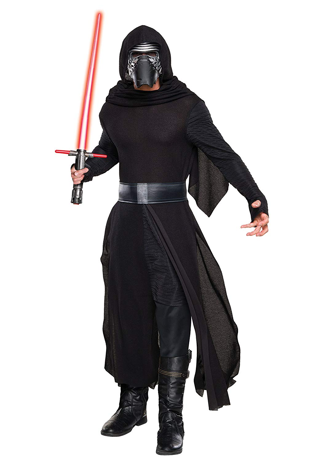 "Adam Driver has been killing it in each of his roles, especially as the struggling villain in the most recent ""Star Wars"" trilogy, which is scheduled to end in December 2019 with ""Star Wars: The Rise of Skywalker."" This costume is a ""Star Wars Episode VII: The Force Awakens"" officially-licensed deluxe piece that includes a robe, hooded cape, belt, and mask (wear with your own pants and boots).Buy: Men's costume (pictured), $20.71 to $93.19RELATED: Rey Costume for Women and Teen Girls"