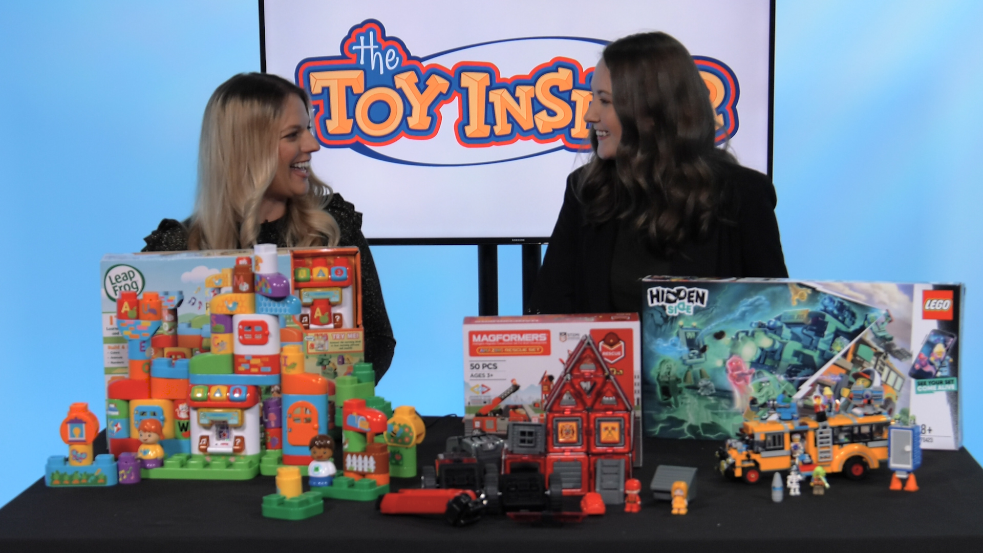 build my future toy demo with two women