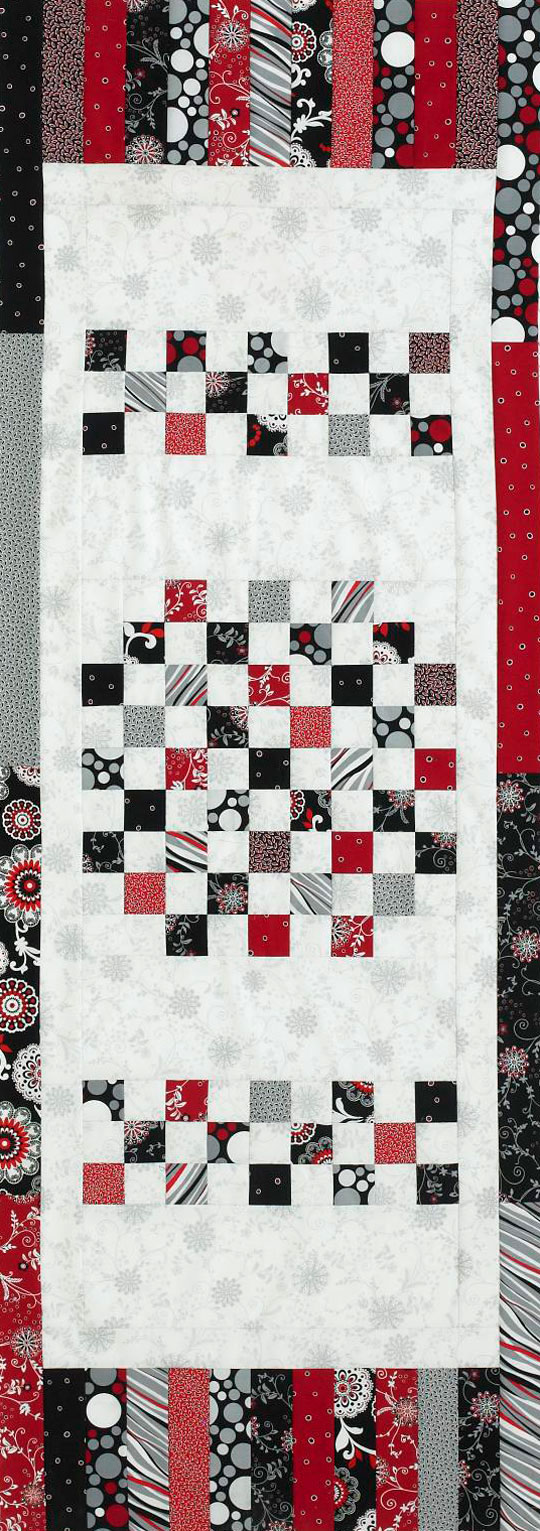 Squares and Strips Table Runner