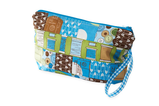 Pieced Sewing Wristlet