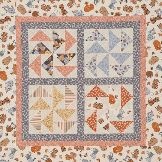 Dutchmen's Puzzle Baby Quilt