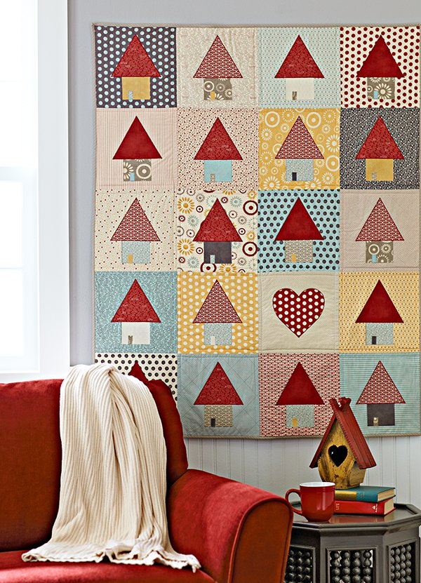 Quilts with Appliqué Shapes