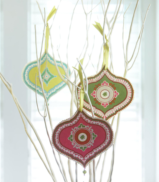 No-Sew Bright Ornaments