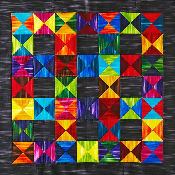 Striking Hourglass Quilt
