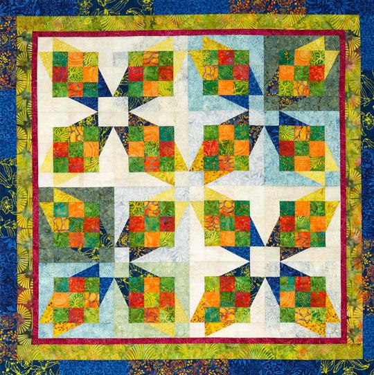 Tropical Crossing Wall Quilt