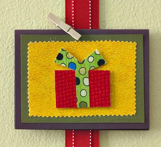 Wrapped Present Card