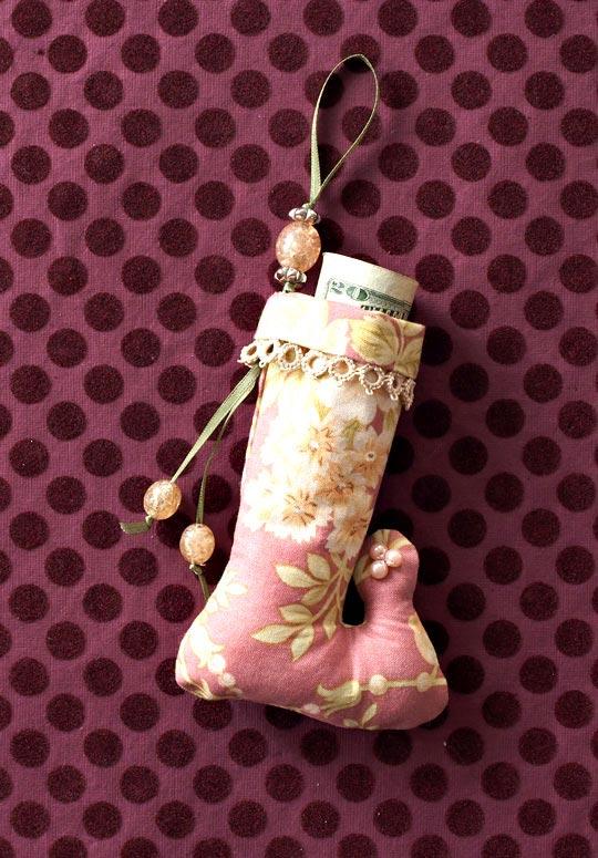 Winter Jewels Stocking Ornament