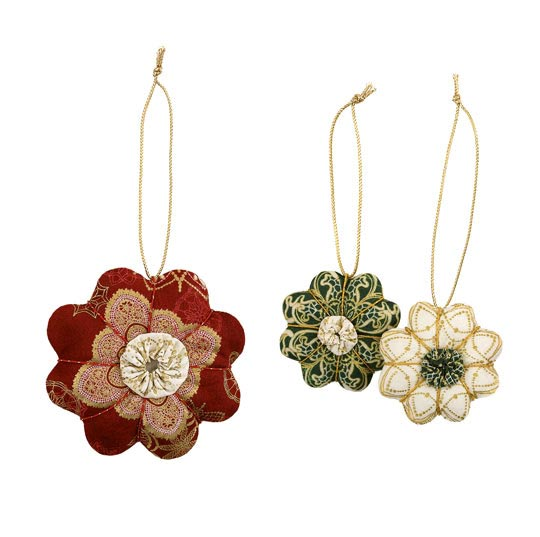 Fabric Holiday Ornaments