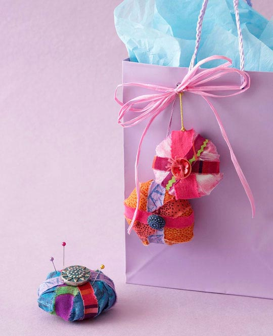 Fabric Strips Ornament