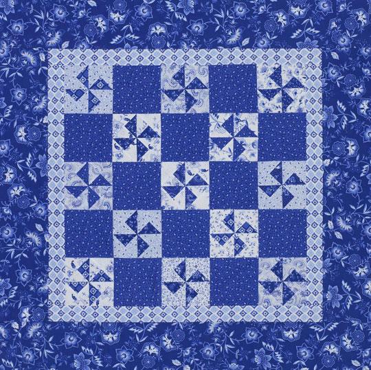 Blue-and-White Pinwheels