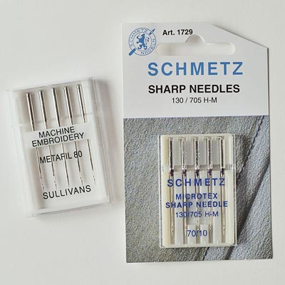 80/12 sharps machine needles