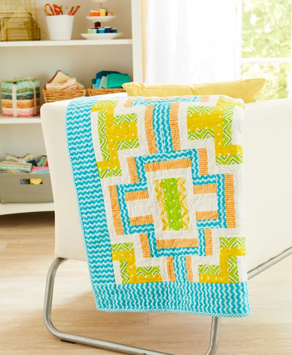 Soft and Bright Baby Quilt