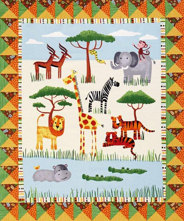Safari Fun Panel Quilt