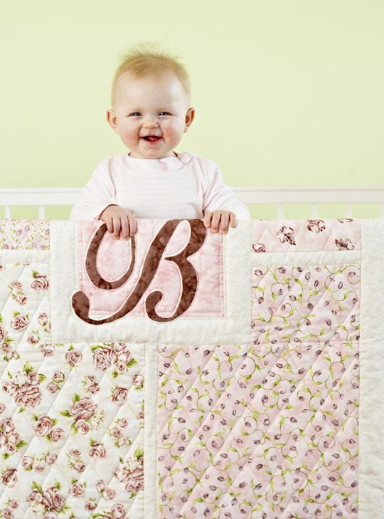 Girl or Boy Monogram Crib Quilt