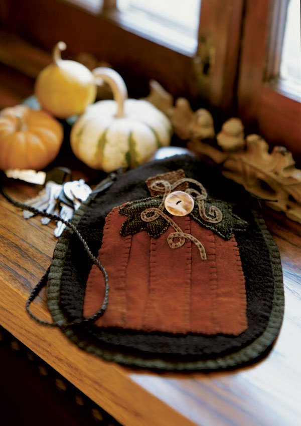 Wool Pumpkin Bag