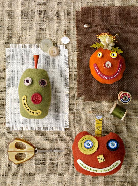 Silly Pumpkin Pincushion
