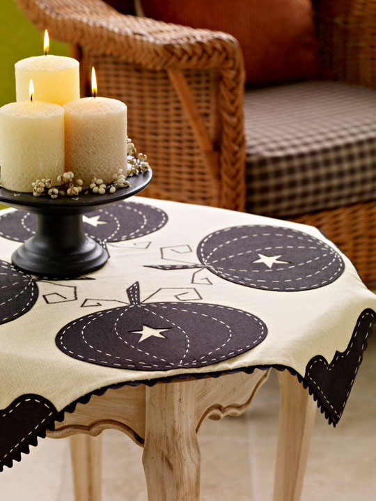 Sophisticated Pumpkin Tablecloth