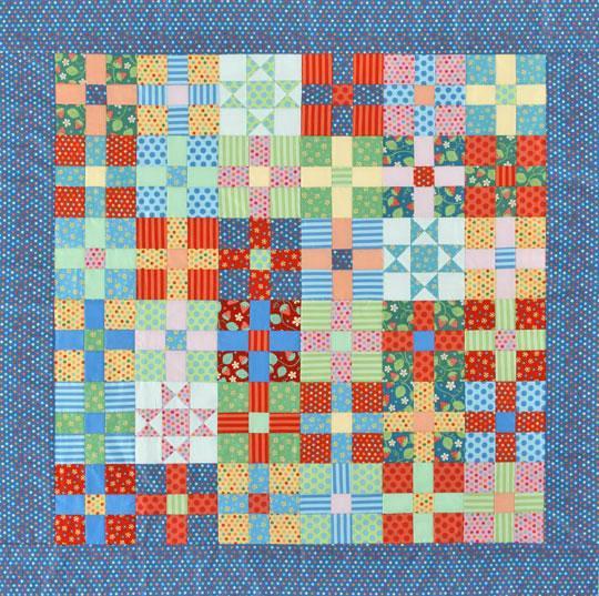 Uneven Nine-Patch & Star Quilt