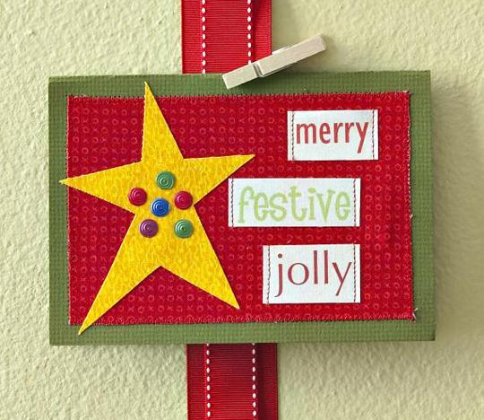 Festive Star Card