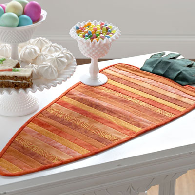 Flip & Sew Carrot Table Runner
