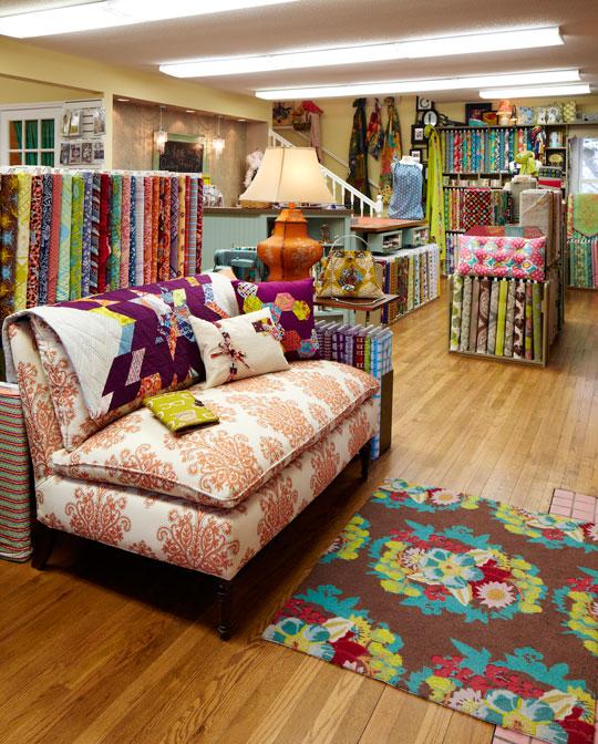 Bunches of Bright Fabrics