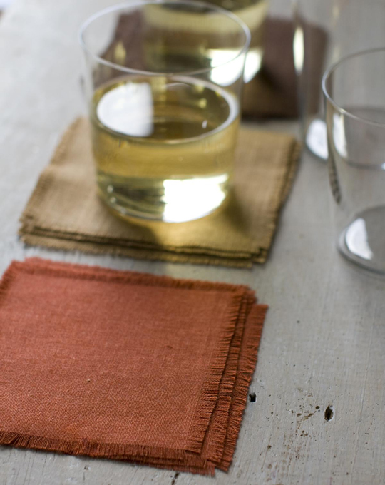 Simple Linen Coasters