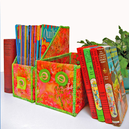 Fused and Folded Boxes by Aunties Two Patterns