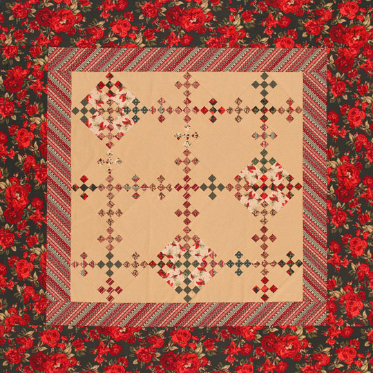 Holiday Double Nine-Patch Quilt