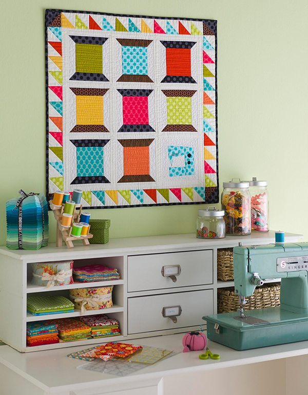 Cheerful Sewing Space