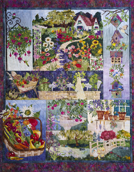 In Full Bloom is just one of McKenna's multiblock quilts,