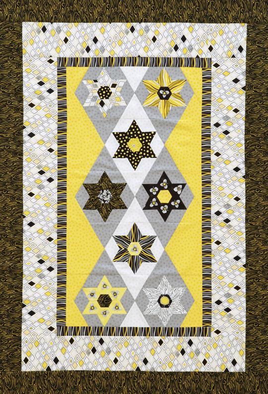 Hexagon and Stars Wall Hanging