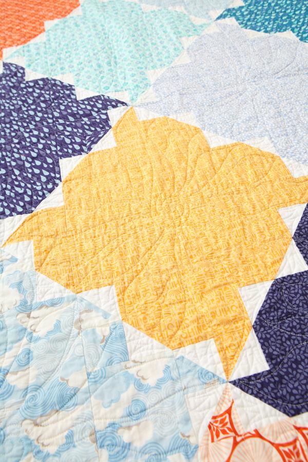 Tile Twist Machine-Quilting Details