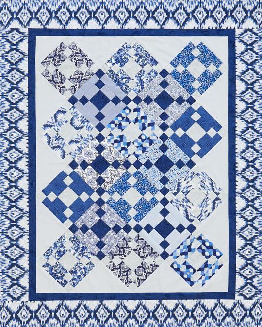 Classic Blue Heirloom Quilt