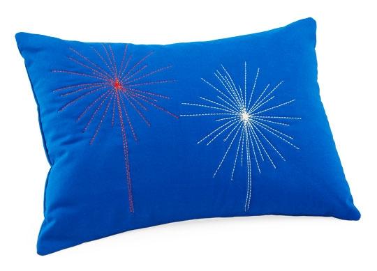 Metallic Fireworks Pillow
