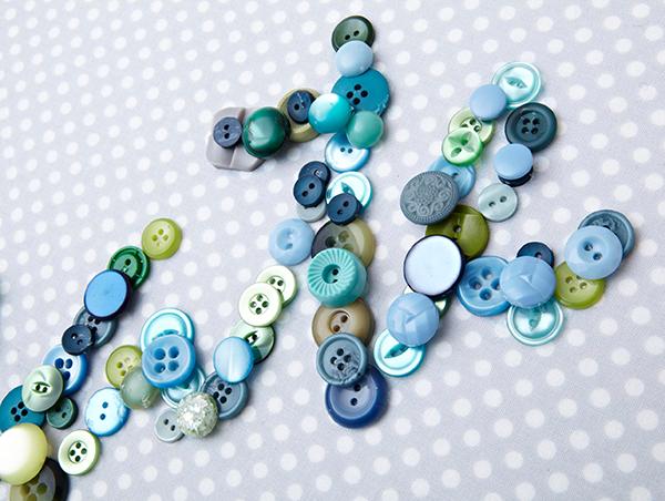 Button Collage Detail
